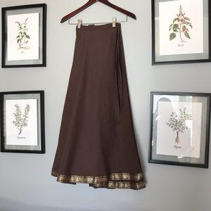 Dresses & Skirts - Wrap linen skirt